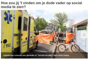 bron: www.rijnmond.nl 11 januari 2018 Politie roept op geen verkeersslachtoffers te fotograferen